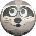 Molten Grey Raccoon Smiley Face Mini Volleyball