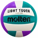 Molten Light Touch Violet & Teal Youth Beach Volleyball