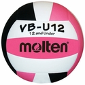 Molten Pink-White-Black VB-U12 Youth Volleyball