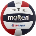 Molten Red-White-Blue Pro Touch Volleyball w/ H.S. Stamp