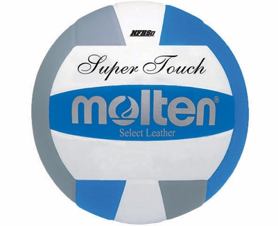 Molten Royal-White-Silver Super Touch Volleyball w/ H.S. Stamp
