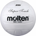 Molten White Super Touch Volleyball w/ H.S. Stamp