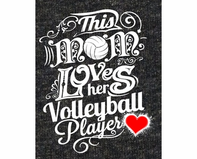 Mom Loves Her Volleyball Player Design Grey Heather T-Shirt