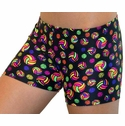 Multi-Color Neon Volleyballs Spandex Shorts