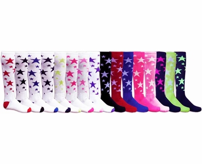 Stars Knee High Socks - Lots of Color Options