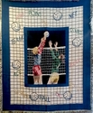 Multicolor Volleyball Players & Sayings Afghan Blanket