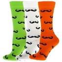 Mustache Crew Socks - 5 Color Options
