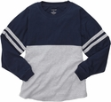 Navy & Grey Oversize Game Day Jersey Pullover w/ optional Volleyball Imprint