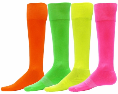 Bright Neon Attacker Performance Knee High Socks - 4 Color Options