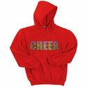 Neon Block Cheer Design Hooded Sweatshirt - in 20 Hoodie Colors