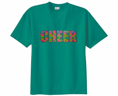 Neon Block Cheer Design Short Sleeve T-Shirt - in 22 Shirt Colors