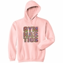 Neon Block Gymnastics Design Hooded Sweatshirt - in 20 Hoodie Colors