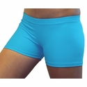 "Neon Blue Turquoise 2.5"" inseam Spandex Shorts"
