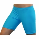 "Neon Blue Turquoise 6"" inseam Spandex Shorts"
