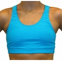 Neon Blue Turquoise Sports Bras