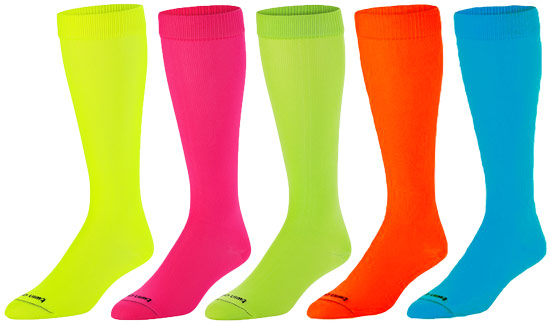 bb902da3f7f Bright Neon KraziSox Knee High Socks in 5 Color Choices - Pink ...