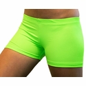 "Neon Lime Green 2.5"" inseam Spandex Shorts"
