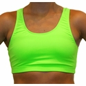 Neon Lime Green Sports Bras