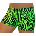 Neon Lime Green Tiger Stripe Spandex
