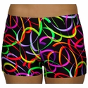 Neon Multi-Color Confetti Spandex Shorts