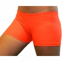 "Neon Orange 2.5"" inseam Spandex Shorts"