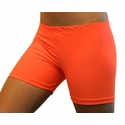 "Neon Orange 4"" inseam Spandex Shorts"