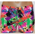 Neon Paint Brush Strokes Spandex Shorts