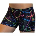 Neon Paint Splatter Spandex Shorts