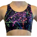 Neon Paint Splatter Sports Bras