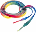 Neon Rainbow Multi-Color Tie Dye Shoe Laces