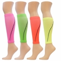 Neon Sport Compression Leg Sleeves - 4 Color Options
