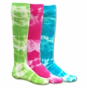 Neon Tie-Dye Tube Socks - 3 Color Options