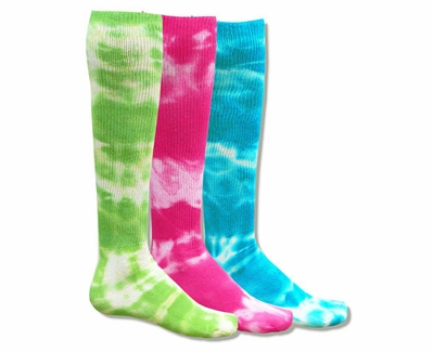 139030ed1f Bright Neon Red Lion Revolution Tie Dye Knee High Tube Socks in 3 Color  Choices - Knee High Socks