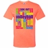 Neon Volleyball Words Design Bright Coral T-Shirt