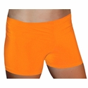 "Orange 2.5"" inseam Spandex Shorts w/ UV sunblock"
