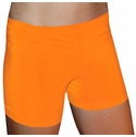 "Orange 4"" inseam Spandex Shorts w/ UV sunblock"