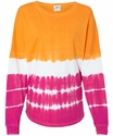 Orange & Cosmic Pink Tie-Dye Game Day Jersey w/ optional Volleyball Imprint