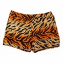 Orange Tiger Print Spandex Shorts