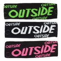 Outside Black Spandex Headband w/ Neon Lettering - in 6 Colors