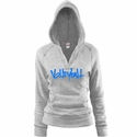 Oxford Grey Soffe V-Neck Fleece Hoodie w/ Abstract Volleyball Design in 5 Colors