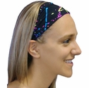 Paint Splatter Spandex Fabric Headband