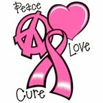 """Love Cure/""""  ***FREE SHIPPING Breast Cancer Lanyard /""""Peace"""