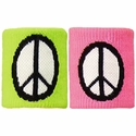 Peace Sign Terry Cloth Wristbands - in 2 Color Options