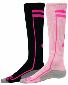 Performance Pink Ribbon Excel Knee High Socks - 2 Color Options