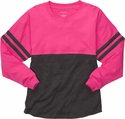 Pink & Grey Oversize Game Day Jersey Pullover w/ optional Volleyball Imprint