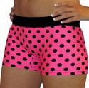 Pink & Polka Dot Flip Band Spandex Shorts