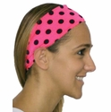 Pink & Polka Dot Spandex Fabric Headband