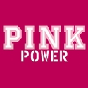 Pink Power Cancer Awareness T-Shirt - in 27 Shirt Colors