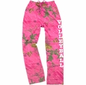 Pink Realtree Camouflage Flannel Lounge Pants - Choice of 22 Sports on Leg or Rear