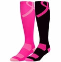 Pink Ribbon Aware Performance Over-Calf Socks - 2 Color Options